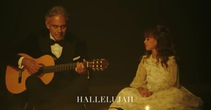 Andrea Bocelli And Daughter Sing 'Hallelujah' Duet
