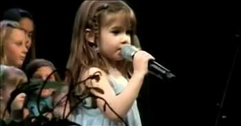 5-Year-Old Kaitlyn Maher Sings 'Above All'