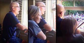 Student Body Sings 'Holy Spirit' Outside Of Sick Teacher's Window