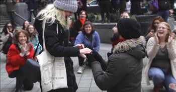 This 'Can't Stop the Feelin'' Flash Mob Proposal Will Have You Dancing Along