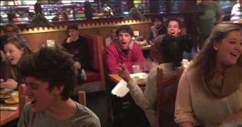 Choir Breaks Out With A Beautiful Message In Middle Of Restaurant