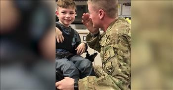 Air Force Dad Surprises Family With Homecoming