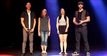 4 A Cappella Voices Sing The National Anthem