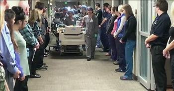 ICU Staff Line Hospital Hallway To Honor Organ Donor With 'Walk of Respect'