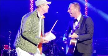 Will Ferrell Surprises Coldplay's Chris Martin on Stage with More Cowbell