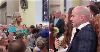 Groom Cries During 'Stand By Me' Wedding Flash Mob