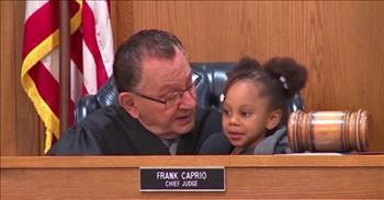 Littlest Judge Proclaims That Grandma Is Guilty In Courtroom