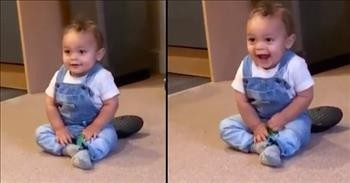 Baby Boy Dances Whenever The Phone Rings