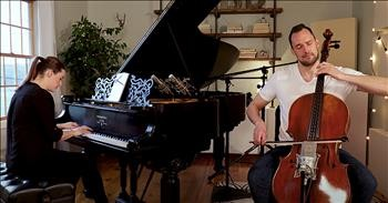 Husband And Wife Perform 'The Sound Of Silence' Duet On Piano And Cello