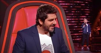 Elvis Audition Turns All 4 Judges On The Voice Kids