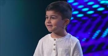 5-Year-Old Child Prodigy Earns Golden Buzzer With Mind-Blowing Talent