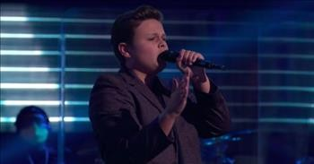 14-Year-Old With Unique Voice Stuns The Voice Judges With Lewis Capaldi Audition