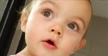 Little Girl Has The Best Reaction To Hearing Her Echo