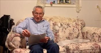 87-Year-Old Reads Poem That He Wrote For His Wife While Dating