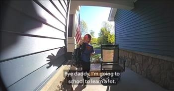 Kids Use Video Doorbell To Send Messages To Deployed Dad