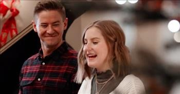 Father-Daughter Christmas Duet To 'Let It Snow'