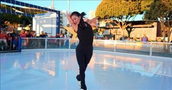 Olympic Figure Skater Michelle Kwan Skates To 'Rise Up' From Andra Day