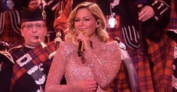 German Singer Helene Fischer Sings 'Amazing Grace' With Pipe And Drums