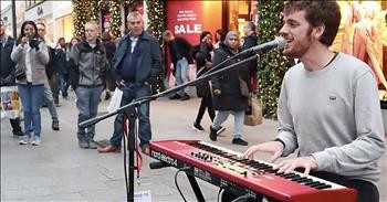 Street Performer Stuns With 'Let It Be' Cover In Dublin