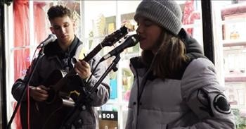 2 Teen Street Performers Meet And Moments Later Sing Brilliant Duet