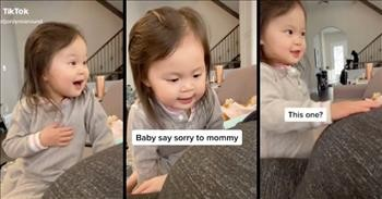 Big Sister Has The Sweetest Reaction To Baby Brother's Kicks