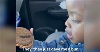 Toddler Adorably Refuses To Eat Burger Without 'Salad'