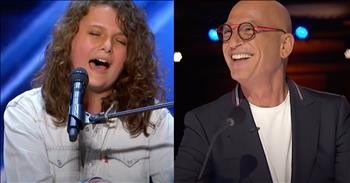 14-Year-Old Dylan Zangwill Rocks Out To Queen Hit During AGT Audition