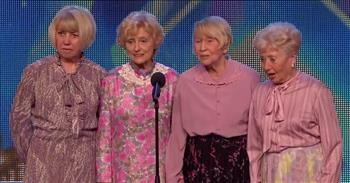 4 Tap-Dancing Grandmas Leave The Crowd Cheering After Unexpected Audition
