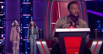 2 Sisters Sing Gospel Song 'Never Alone' During Blind Auditions