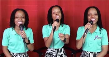Triplets Sing Worship Song 'He Saw It All'