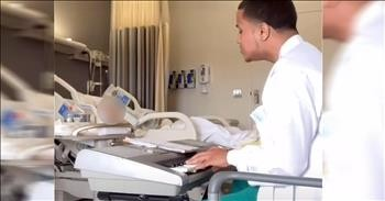 Viral Singing Phlebotomist Performs Worship Songs For Patients