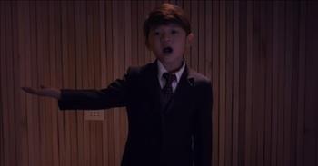 Little Boy Sings Heartfelt Rendition Of 'You'll Never Walk Alone'