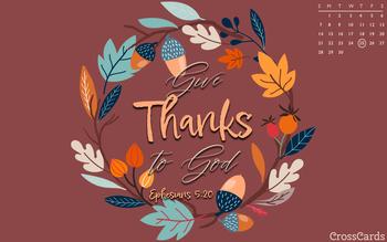 November 2021 - Give Thanks