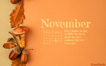 November 2021 - Psalm 107