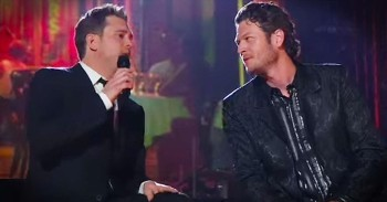 Michael Buble And Blake Shelton Perform Heartfelt Duet Of 'Home' -  Christian Music Videos