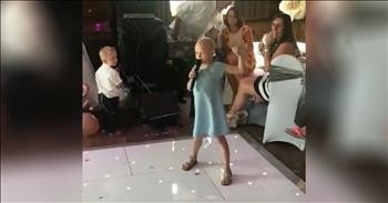 6 Year Old With Cancer Sings Fight Song At Wedding Inspirational