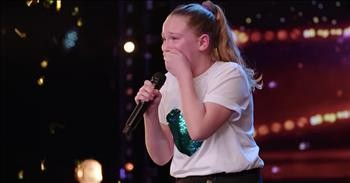10-Year-Old With Big Voice Earns Golden Buzzer With Original Song