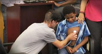 Young Boy Meets Parents Of Heart Donor In Emotional Reunion