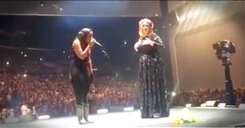 Singer Adele Invites Christian Artist Jamie Grace On Stage To Sing