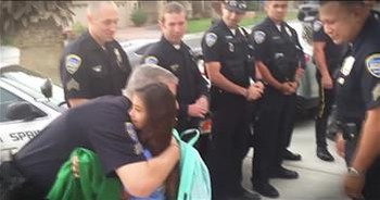 Daughter Of Fallen Cop Gets Police Escort To School