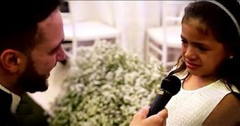 Man Gives Vows To New Step-Daughter At Wedding