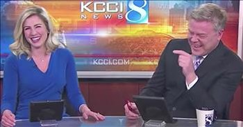 News Anchors Cannot Stop Laughing At Dog Honking Horn