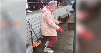Grooving Granny's Dance Moves Go Viral