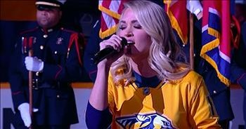 Carrie Underwood Nails 'The National Anthem' For Husband's Team