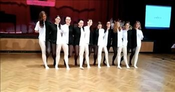 High School Students Perform Amazing Optical Illusion Dance For Talent Show