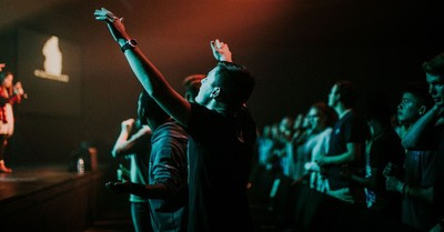 people gathered in worship, why revival is America's only hope