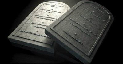 stone replica tablets for ten commandments