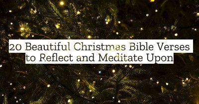 20 Beautiful Christmas Bible Verses to Reflect and Meditate Upon