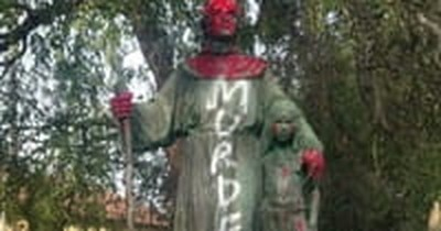 Saint's Statue Defaced amid Confederate Monuments Debate