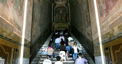 Stairs Believed to Be Walked by Jesus before His Crucifixion Revealed in Rome